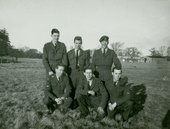 Peter Blake (centre back) during National Service