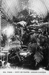 Henri Rousseau: Jungles in Paris exhibition - Post card of the Jardin d'Hiver ('Winter Garden') at the Jardin des Plantes