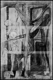 Composite image of new x-ray of Picasso's The Three Dancers, showing underpainting