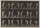 Eadweard Muybridge Blacksmiths, two models, hammering an anvil. (Movements. Male) Plate 374 1887