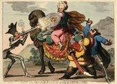 James Gillray Political Banditti Assailing the Saviour of India 1786