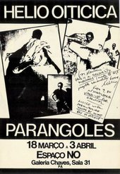 Poster for Oiticica's exhibition of Parangolés at the Galeria Chaves, Porto Alegre, Brazil, 1972