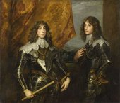 Anthony Van Dyck Prince Charles Louis, Elector Palatine and Prince Rupert 1637