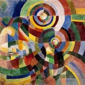 Sonia Delaunay, Prismes electriques 1914