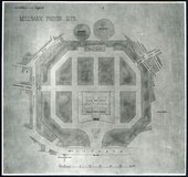 Drawing of the Prison Site at Millbank, known as Millbank Penitentiary