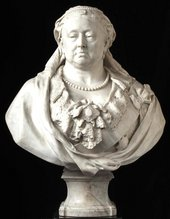 Marble sculpture of Queen Victoria by Alfred Gilbert © Army and Navy Club London