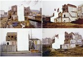 Rachel Whiteread, House Study, grove Road, photograph in four parts 1992