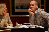 Rem Koolhaas and Lynne Cooke in conversation at the Fairmont Olympic Hotel Seattle 2004