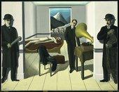 Rene Magritte's oil painting The Menaced Assassin.