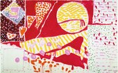 Patrick Heron Red Garden Painting : June 3 - June 5 : 1985
