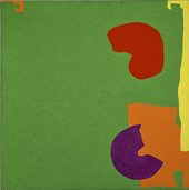 Patrick Heron Square Green with Orange, Violet and Lemon : 1969 1969 Oil paint on canvas 1524 x 1524 mm Private collection © Estate of Patrick Heron. All Rights Reserved, DACS 2018