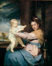 Joshua Reynolds Caroline, Duchess of Marlborough and her daughter, Lady Caroline Spencer 1764-7