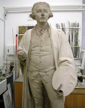 Part cleaned Reynolds sculpture by Foley