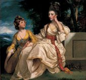 Joshua Reynolds Mrs Hester Lynch Thrale with her Daughter Hester Maria 1777-8