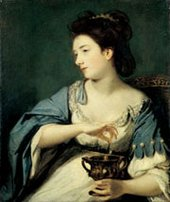 Joshua Reynolds Kitty Fisher as Cleopatra Dissolving the Pearl 1759