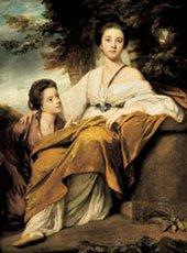 Joshua Reynolds The Ladies Elizabeth and Henrietta Montagu 1763