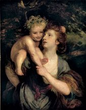 Joshua Reynolds Mrs Hartley as a Nymph with a Young Bacchus 1771