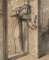 Richard Cosway A Nun Surprising a Monk Kissing a Nun in a Church Interior circa 1785-1800