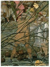 Richard Dadd The Fairy Fellers Master Stroke detail depicting the fairy feller raising his axe