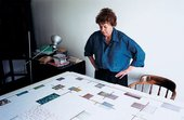 Bridget Riley planning layout for Tate exhibition
