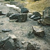 Robert Smithson Untitled (Zig-Zag Mirror Displacement) 1969 constructed near Tredegar, Wales