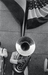 Robert Frank Political Rally Chicago 1956