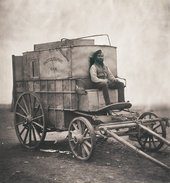 Roger Fenton Fentons Photographic Van with assistant Marcus Sparling 1855