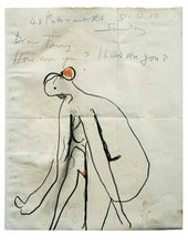 Illustrated letter by Roger Hilton sent to Terry Frost c.1959