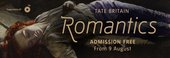 Romantics Tate Britain exhibition banner