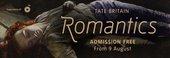 Romantics Tate Britain exhibition banner