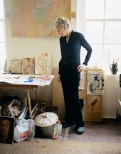 Rose Hilton in her Penzance studio 2006