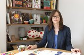 Merchandise Director, Rosey Blackmore, in her office at Tate Britain