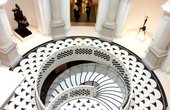 The spiral rotunda staircase Tate Britain