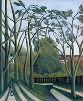 Henri Rousseau - The Banks of the Bièvre near Bicêtre 1908