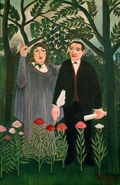 Henri Rousseau - The Muse Inspiring the Poet second version 1909