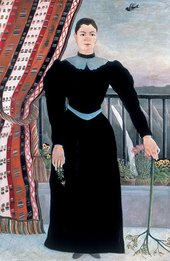 Henri Rousseau - Portrait of a Woman c.1895 (woman in black dress standing)