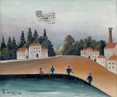 Henri Rousseau The Anglers (The Fishermen and the Biplane) 1908