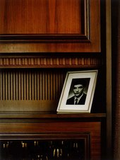 Thomas Ruff Interieur 3C (Zell am Harmersbach) 1979 (photo of young man on mantlepiece)