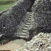 The ruins at Old Sarum, Salisbury, Photographed by Nancy Holt in 1969