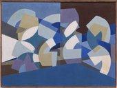 Saloua Raouda Choucair Composition in Blue Module 1947-51
