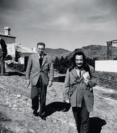 Salvador Dalí and Walt Disney at Dalí's home in Port Lligat, Spain 1957