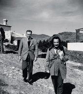 Salvador Dalí and Walt Disney at Dalí's home in Port Lligat, Spain 1957