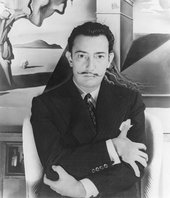 Salvador Dalí on the set of the film Spellbound