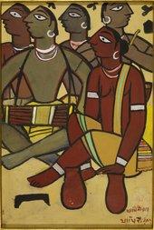 Jamini Roy Santhal Drummers