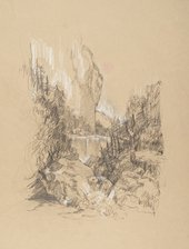 Sarah Praill After Turner from Grenoble Sketchbook [Finberg LXXIV], Cascade of the Chartreuse 1802