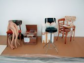 Sarah Lucas Various works uninstalled