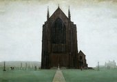 LS Lowry, St Augustine's Church, Pendlebury 1924