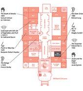 A map listing 'sensory' artworks on permanent display at Tate Britain