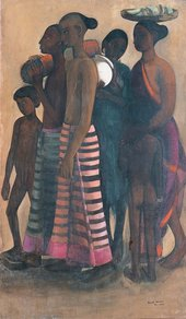 Amrita Sher-Gil, South Indian Villagers Going to Market, 1937, oil on canvas, Collection of Navina and Vivan Sundaram