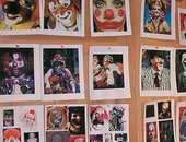 Cindy Sherman Clown images on studio wall